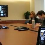 Exemplo de apresentação corporativa em reuniões