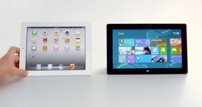 Surface RT x iPAD