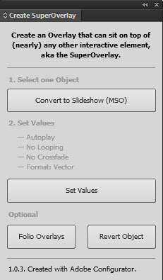 Create Super Overlay - Adobe DPS