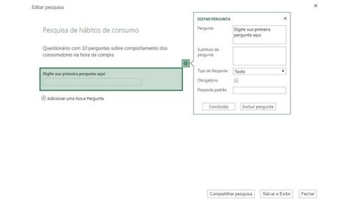 OneDrive pode criar questionários online (Foto: Reprodução/Raquel Freire)