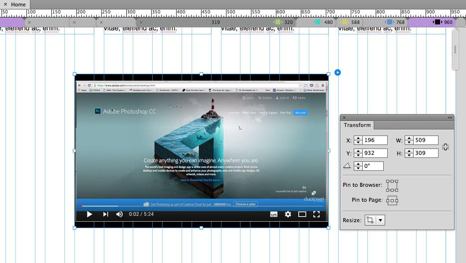 Adobe Muse CC 2015 2 - Novidades Adobe Creative Cloud Adobe Muse