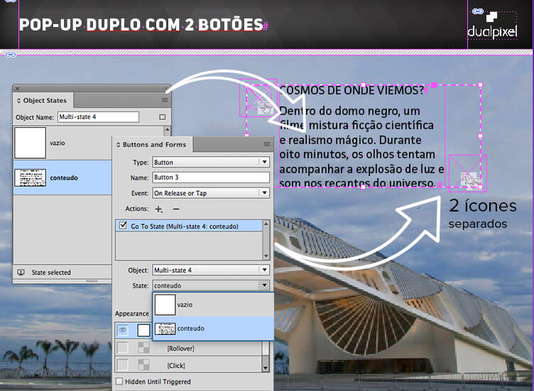 pop-up - Multi State Objects - Adobe InDesign