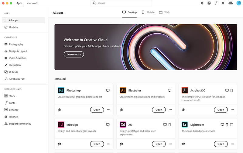 Adobe Creative Cloud Desktop