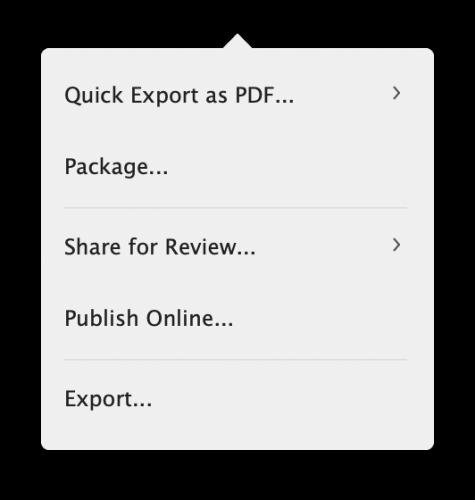 Fluxo de revisão Online - InDesign CC 2020