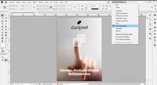 espaço de trabalho indesign cc para publicação digital